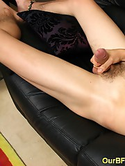 Erotic couch masturbation